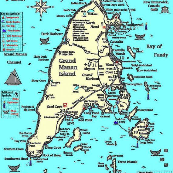 Grand Manan map