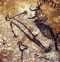 The hunter at the Entrance wall of Lascaux
